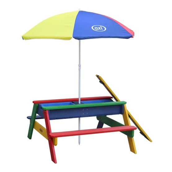 Axi - Sand/Vatten Lekbord Nick - Rainbow - Parasoll Rainbow
