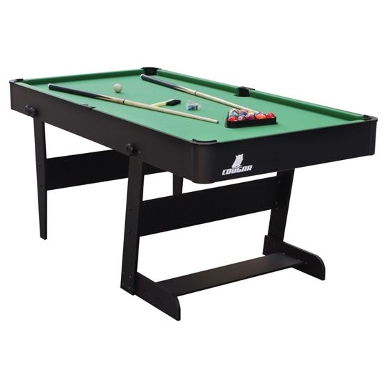Cougar - Biljard - Hustle XL folding Pool Table Black