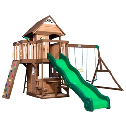 BYD - Lekställning - Mount Triumph Playtower with Swings and Slide