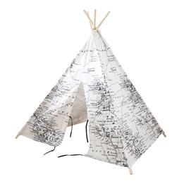 Step2 - World Map Teepee Tent Black/white