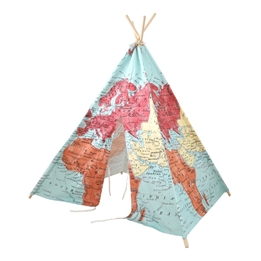 Step2 - World Map Teepee Tent Multicolour