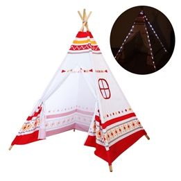Sunny - LED Teepee Tent Red / white