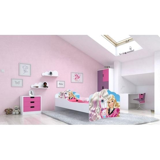 en.casa]® Barnsäng tipitält inkl. madrass 80x160cm furu