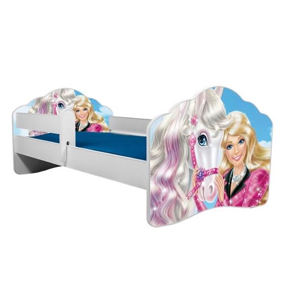Barnsäng - Fala Med Madrass Och Skyddskant - Barbie