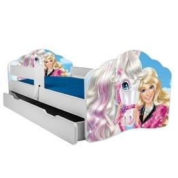 Barnsäng - Fala Med Madrass, Skyddskant Och Extrasäng - Barbie