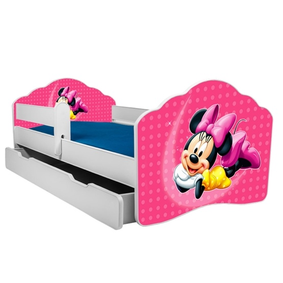 Barnsäng - Fala Med Madrass, Skyddskant Och Extrasäng - Mickey Mouse