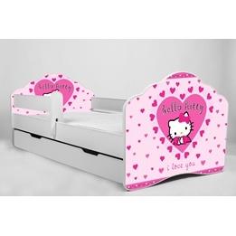 Barnsäng - Fala Med Madrass Och Skyddskant - Hello Kitty