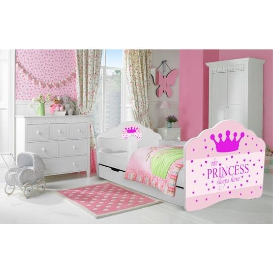 Barnsäng - Fala Med Madrass Och Skyddskant - Sleepy Princess