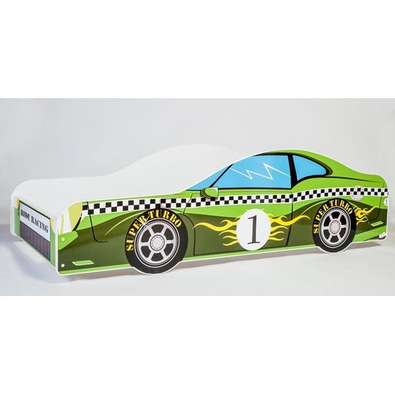 Barnsäng - Car Med Madrass - Green