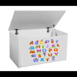 Förvaringslåda - Alfabetet - Vit