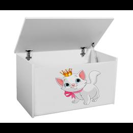 Förvaringslåda - Katt - Vit