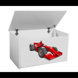 Förvaringslåda - Formul 1 Bil - Vit