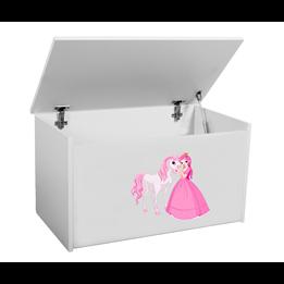 Förvaringslåda - Prinsessa Med Häst - Vit