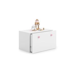 Förvaringslådor - Inga - Vit Med Rosa Knoppar