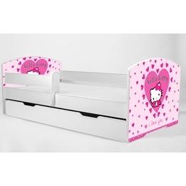 Barnsäng - Luk Med Madrass Och Skyddskant - Hello Kitty