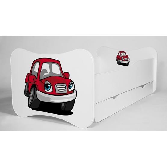 Barnsäng - Mati Med Madrass - Red Car