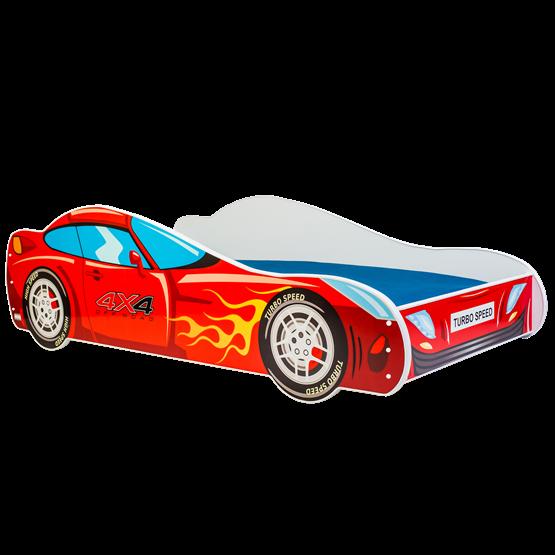 Barnsäng - Car Med Madrass - Racer