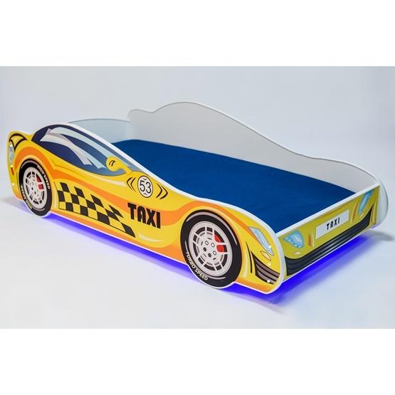 Barnsäng - Car Med Ledljus Och Madrass - Taxi L