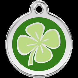 Red Dingo - ID-bricka Skolväska Fyrklöver Grön