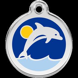 Red Dingo - ID-bricka Skolväska Delfin Mörk Blå