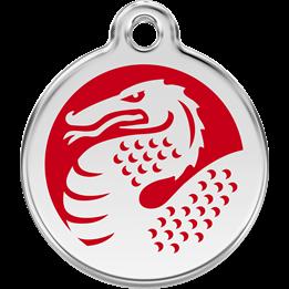 Red Dingo - ID-bricka Skolväska Drake