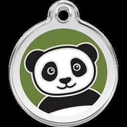 Red Dingo - ID-bricka Skolväska Panda Grön