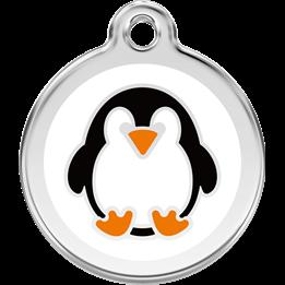 Red Dingo - ID-bricka Skolväska Pingvin Vit