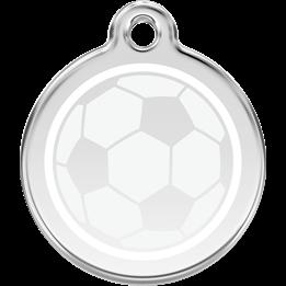 Red Dingo - ID-bricka Skolväska Fotboll Vit