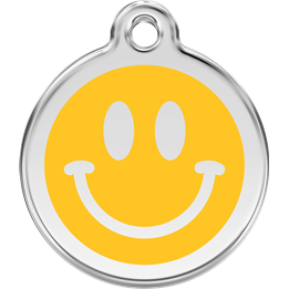 Red Dingo - ID-bricka Skolväska Smiley Gul