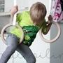 Romerska Ringar Barn - Svarta Remmar - Vita