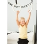 Romerska Ringar Barn - Svarta Remmar - Vitt Trä