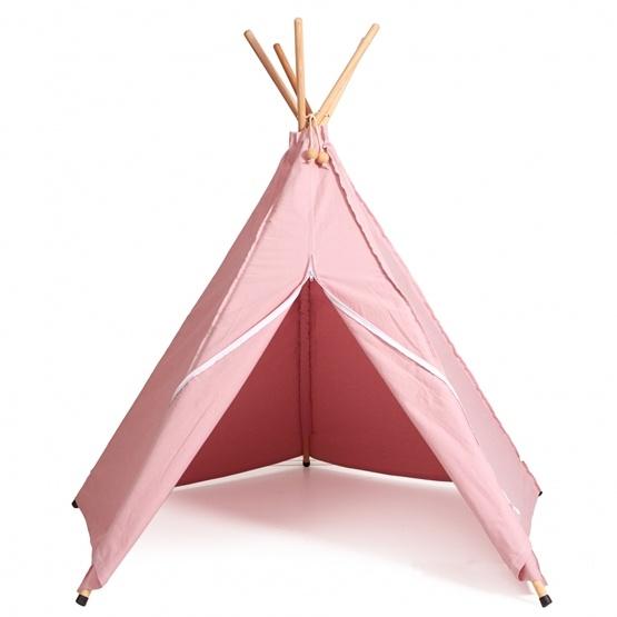 Hippie Tipi Lektält - 100% Ekologisk Bomull - Rosa