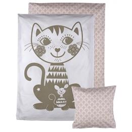 Roommate - Bedset - Soulmate Cat - Junior Grey / Pale Rose