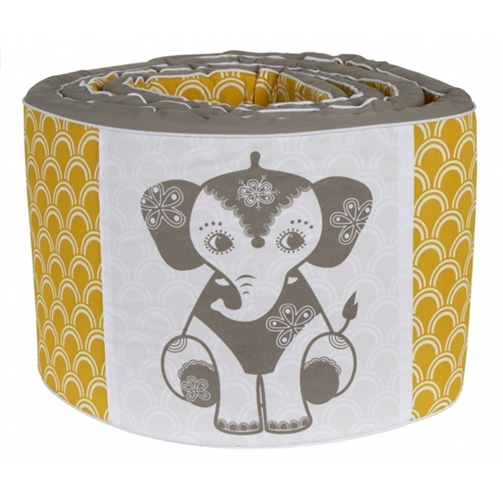 Roommate - Bedset - Soulmate Elephant Grey / Ochre Baby Jumper