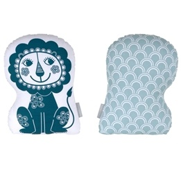 Roommate - Kudde - Soulmate Lion Blue / Grey-Blue