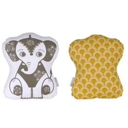 Roommate - Kudde - Soulmate Elephant Grey / Ochre