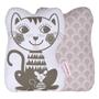 Roommate - Kudde - Soulmate Cat Grey / Pale Rose