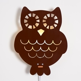 Roommate - Lampa - Owl Lamp Brown