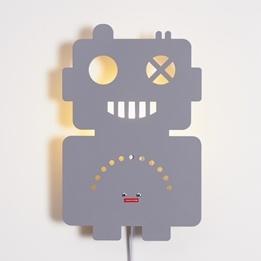 Roommate - Lampa - Robot Lamp Grey