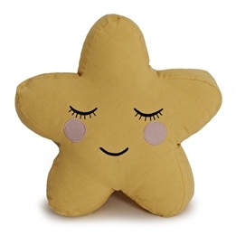 Roommate - Kudde - Star Cushion Yellow