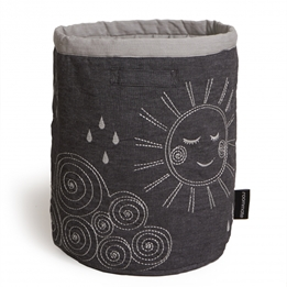 Roommate - Korg - Quilted Basket - Large Anthracite