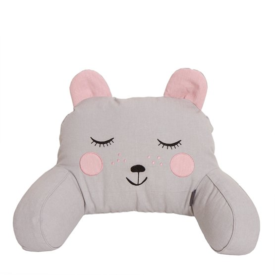 Roommate - Pram Pillow - Hugging Bear Grey