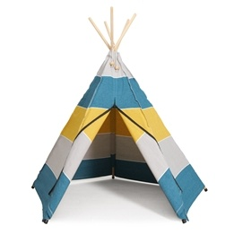 Hippie Tipi - Lektält - 100% Ekologisk Bomull - Polar - Petrol