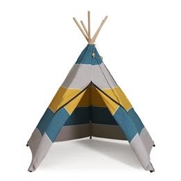 Hippie Tipi - Lektält Av 100% Ekologisk Bomull - Polar - Grå