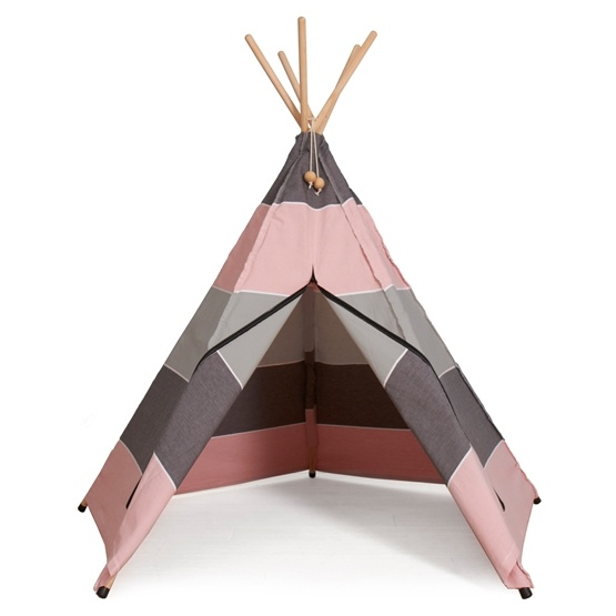 Hippie Tipi - Lektält Av 100% Ekologisk Bomull - North - Rosa
