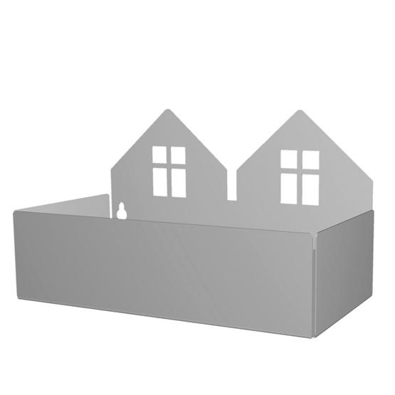 Roommate - Hylla - Twin house box, grey
