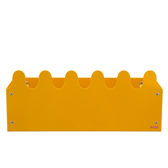 Roommate - Hylla - Sinus Box & Coat rack Yellow