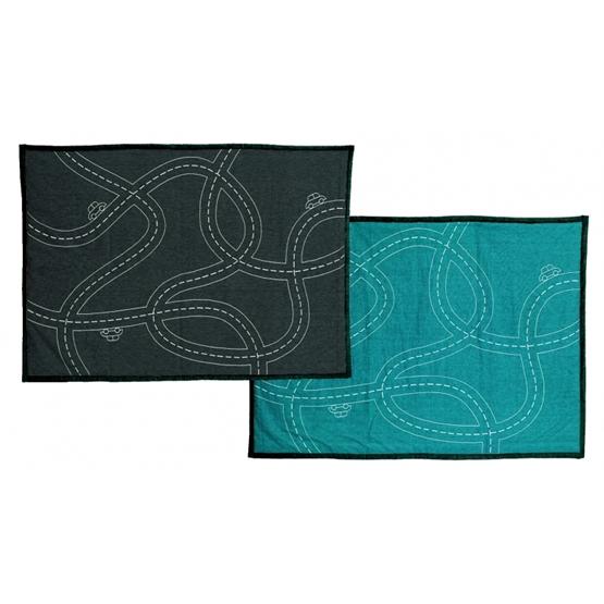 Roommate - Traffic Jam blanket Anthracite/Petrol