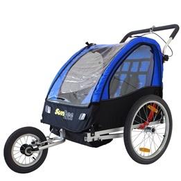 SunBee - Cykelvagn - Sunbee Cruiser Ink Strollerkit - Blå/Svart