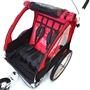 SunBee - Cykelvagn - Sunbee Cruiser Ink Strollerkit - Röd/Svart